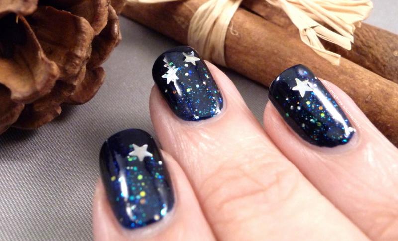 Маникюр звезды ночью